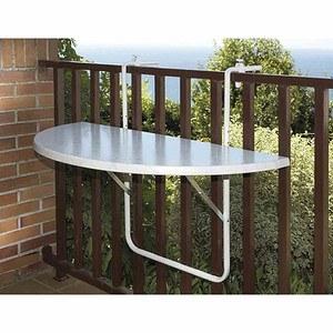 ALCO Balkonhängetisch 100x50 cm, weiß, Kunststoffplatte