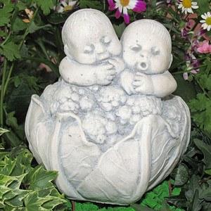 """""""Baby's im Blumenkohl"""", kleine Dekorationsfigur"""