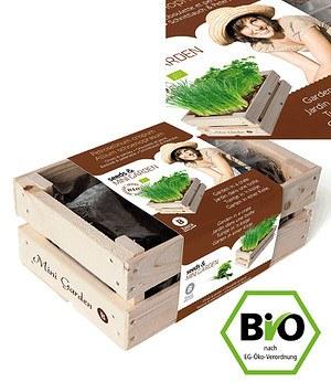 Baza Seeds Mini-Garten BIO-Schnittlauch & BIO-Petersilie,1 Kiste