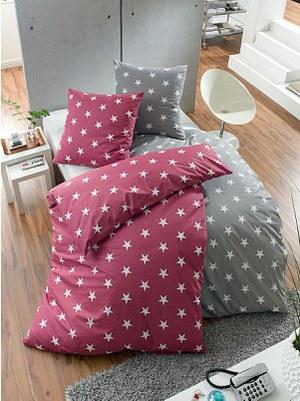 Bettwäsche Sterne Hellgrau 135 x 200 cm