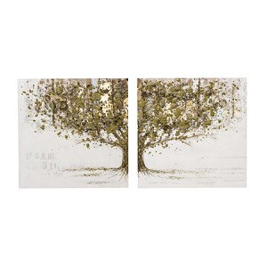 Bilder-Set, 2-tlg. Mystic Golden Tree
