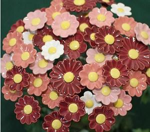 Blumenset 35 Keramikblumen Herbst