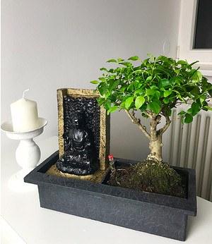Bonsai-Baum mit dekorativemBuddha-Wasserfall,1 Stück