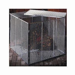 BRISTA Komposter, Maße: 100x100x80cm feuerverzinkt, 4-teilig, Streckmetall