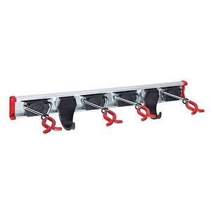 BRUNS Geräteleiste 0,5m mit 4 Gerätehaltern und 2 Haken