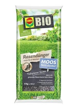 Compo COMPO BIO Rasendünger Moos - Nein danke! 6 kg für 100 m²