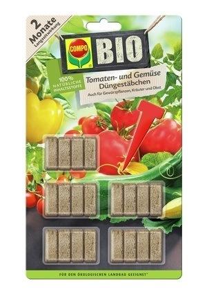 Compo COMPO BIO Tomaten- und Gemüse Düngestäbchen (20 Stäbchen)