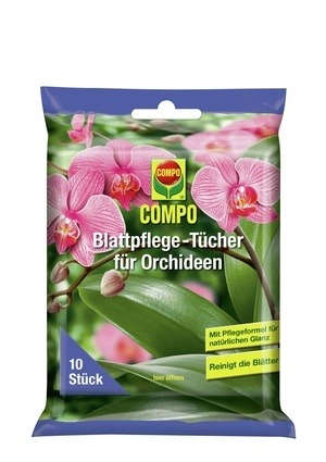 Compo COMPO Blattpflege-Tücher für Orchideen (10 Tücher)