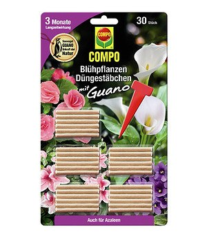 Compo COMPO Blühpflanzen Düngestäbchen mit Guano,30 Stäbchen