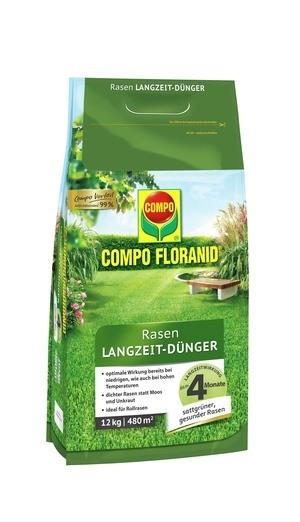 COMPO COMPO FLORANID® Rasen Langzeit-Dünger 12 kg für 480 m²