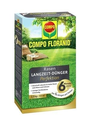 Compo COMPO FLORANID® Rasen Langzeit-Dünger Perfektion 2,5 kg für 55 m²