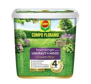 Compo COMPO FLORANID® Rasendünger Unkraut+Moos Komplett-Pflege 9 kg 300 m²