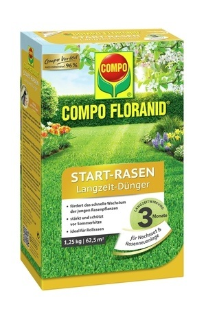 Compo COMPO FLORANID® Start-Rasen Langzeit-Dünger 1,25 kg für 62,5 m²