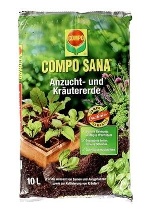 COMPO COMPO SANA® Anzucht- und Kräutererde 10 L