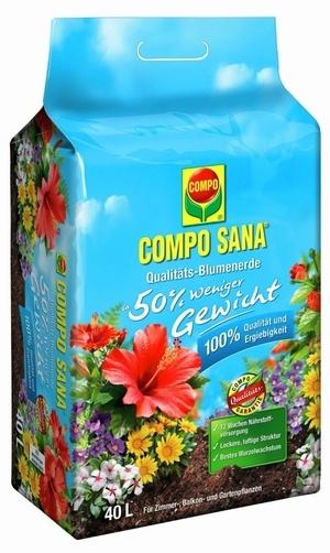 Compo COMPO SANA® Qualitäts- Blumenerde ca. 50% weniger Gewicht 40 L
