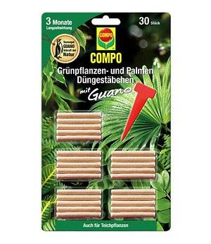 COMPO Grünpflanzen- und Palmen Düngestäbchen mit Guano,30 Stäbchen