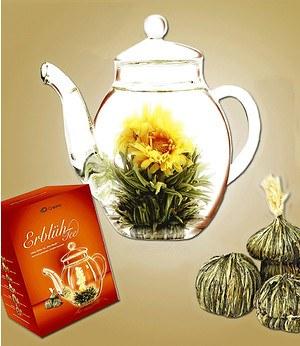 Creano Erblüh-Tee-Set inkl. Glaskanne & 6 Teekugeln,1 Set