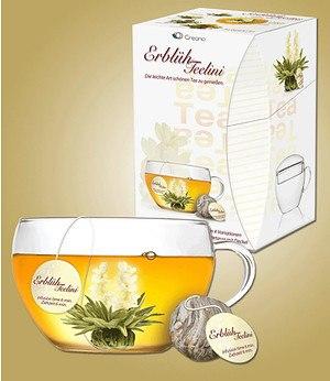 Creano Erblüh-Teelini-Set inkl. Glastasse & 8 Teekugeln,1 Set