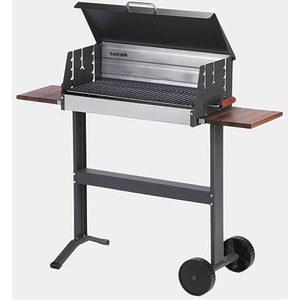 DAN COOK Grill 5600, Grillfläche: 62x25 cm Fahrbar, mit Ablage und Deckel