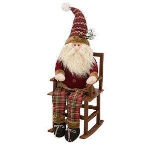 Deko-Figur Schaukel-Santa