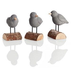 Deko-Figuren-Vögel, 3-tlg. Happy Birds