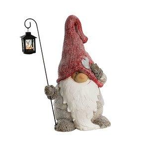 Dekofigur Weihnachtswichtel mit Laterne