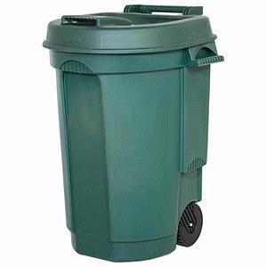 EDA Fahrbarer Abfallbehälter 110L Farbe: grün, Maße: 55x58x81cm