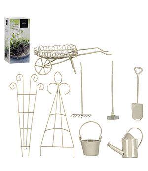 Edelman Mini-Garten Starter-Set weiß 8-teilig,1 Set