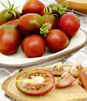 """Eier-Tomate """"Schwarze Pflaume"""",1 Pflanze"""