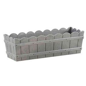 Emsa Country Blumenkasten grau, Kunststoff, 50x17x15cm