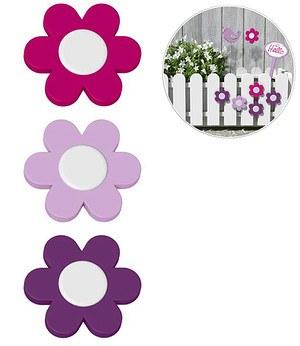 "Emsa EMSA Landhaus 3er Blumenclips ""violett/flieder/pink"",1 Set"