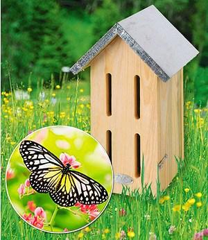 Esschert Design Schmetterlings-Hotel Butterfly 15x13x23 cm,1 St.