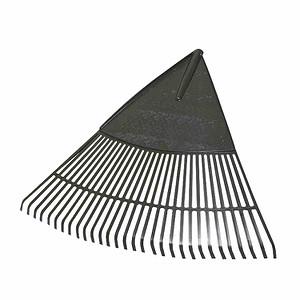 FLORA Landschaftsbesen 76cm aus Kunststoff mit 30 Zinken ohne Stiel
