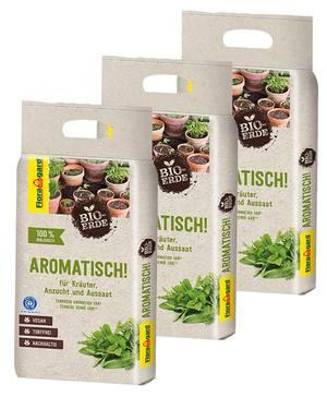 Floragard Bio-Erde Aromatisch torffrei 3x3L