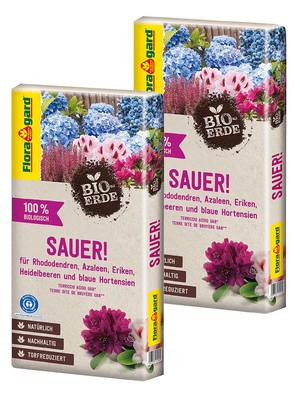 Floragard Bio-Erde Sauer torfreduziert 2x40L