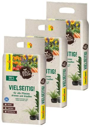Floragard Bio-Erde Vielseitig ohne Torf 3x3L