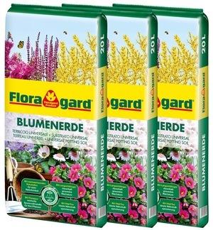Floragard Blumenerde 3X20L