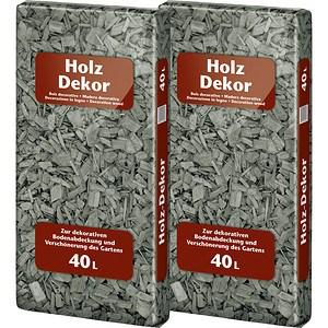 Floragard Holzdekor Anthrazit