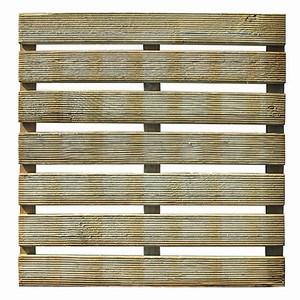 FOREST-STYLE Holzfliese geriffelt 50x50x3 cm, 28mm, 7+3 Latten, Kiefer KDI