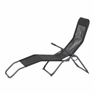 GARDAMO Bäderliege Brigo, silber/schwarz, Stahlrohrgestell, Bezug schwarz