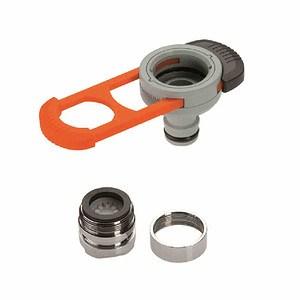 GARDENA Adapter für Indoor-Wasserhähne, passend für M 22 x 1 Innen-, M 24 x 1