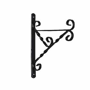 GARDMAN Halter 25-30cm für Hängeampeln, Farbe: schwarz, Metall, bis 25 kg