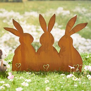 Gartenstecker Rost Hase & friends