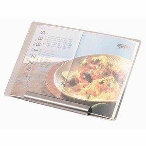 GEFU Kochbuchständer 35,5 x 24 cmmit Plexiglasscheibe, Halterung Edelstah