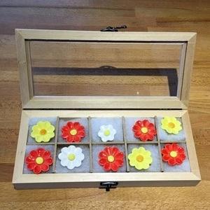 Geschenkset Keramikblumen Frühling, 10 Stück