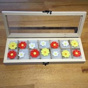 Geschenkset Keramikblumen Frühling, 14 Stück