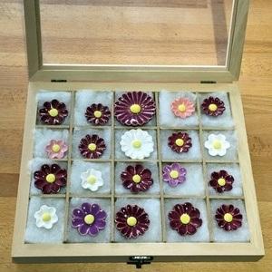 Geschenkset Keramikblumen Sommer, 20 Stück