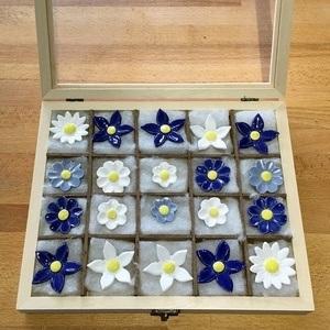 Geschenkset Keramikblumen Winter, 20 Stück