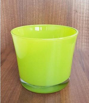 """Glas-Übertopf ø 14 cm """"lime-grün"""", 1 Stück"""