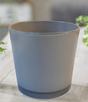 """Glas-Übertopf ø 17 cm """"grau"""",1 Stück"""